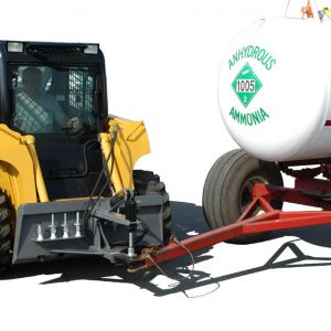 Anyhdrous Tank Angle - Clevis Style Steves Hitch Skidsteer
